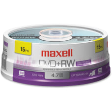 Maxell DVDRW Rewritable Media Spindle 47GB120