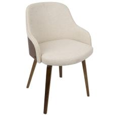 LumiSource Bacci Chairs WalnutCream Set Of