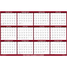 SwiftGlimpse Horizontal Yearly Erasable Wall Calendar