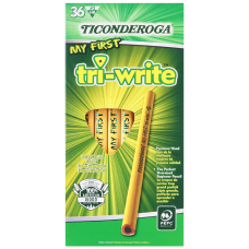 Ticonderoga Tri Write Beginners Pencils Presharpened
