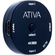Ativa 3 Device HDMI Switch Black