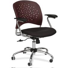 Safco Reve Task Chair Black Mahogany