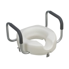 DMI Raised Locking Toilet Seat With