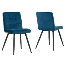Glamour Home Anika Dining Chairs Blue