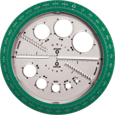 Helix Angle and Circle Protractor Plastic