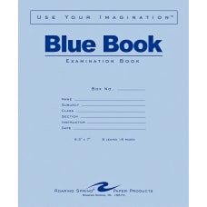 Roaring Spring Blue Book 8 sheet