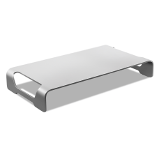 Mount It Aluminum Monitor Stand Silver