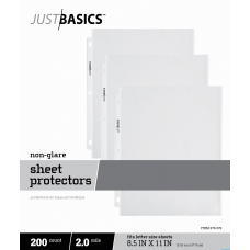 Just Basics Lightweight Sheet Protectors 8
