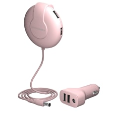ChargeHub V6 Shareable Car Charger Pink