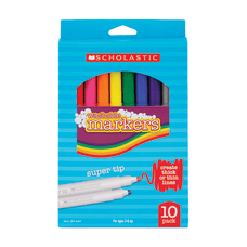 Scholastic Washable Markers Beveled Tip Assorted