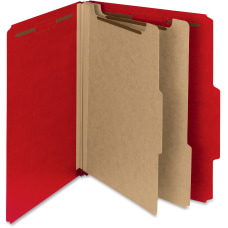 Smead 100percent Recycled Colored Classification Folders