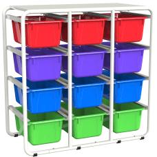 Storex Storage Rack With 12 Cubby