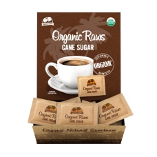 Organic Raw Cane Sugar Packets Box