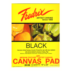 Fredrix Black Canvas Pad 12 x