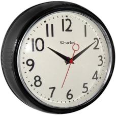 Westclox Wall Clock BlackChrome Case