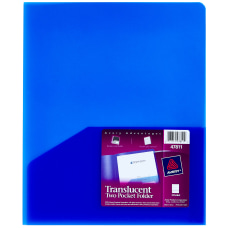 Avery Translucent Report Cover Twin Pocket