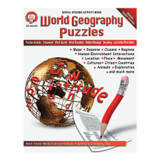 Mark Twain World Geography Puzzles Book