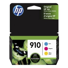 HP 910 Tri Color Ink Cartridges