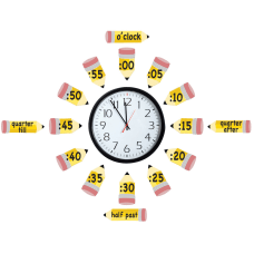 Eureka Telling Time Bulletin Board Set