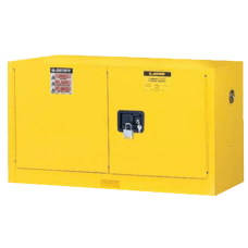 Yellow Piggyback Safety Cabinets Manual Closing