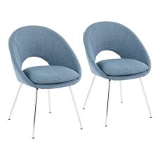 LumiSource Metro Chairs Blue NoiseChrome Set