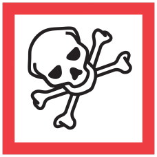 Tape Logic Pictogram Labels DL4248 Skull