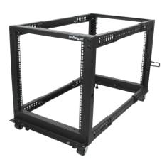StarTechcom 12U Adjustable Depth Open Frame
