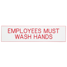 Cosco Engraved Acrylic Sign Employees Must