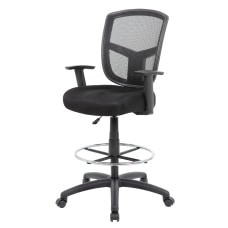 Boss Contract Mesh Drafting Stool Black