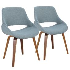 LumiSource Fabrico Chairs Blue Noise SeatWalnut