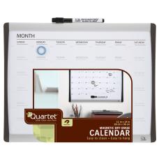 Quartet Magnetic Dry Erase Calendar Board