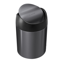 simplehuman Mini Round Steel Trash Can