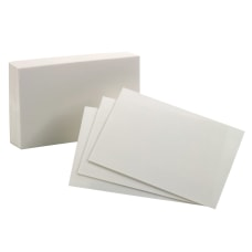 Oxford Index Cards Blank 4 x