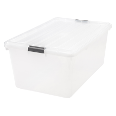 IRIS Buckle Down Plastic Storage Container