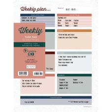 TF Publishing Undated Weekly Task Pad