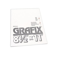 Grafix Matte Acetate Sheets 8 12