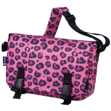Wildkin Jumpstart Messenger Bag Pink Leopard