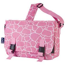 Wildkin Jumpstart Messenger Bag Pink Giraffe