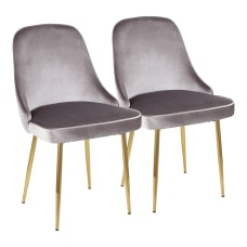 LumiSource Marcel Dining Chairs GoldSilver Set