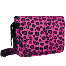Wildkin Laptop Messenger Bag Pink Leopard