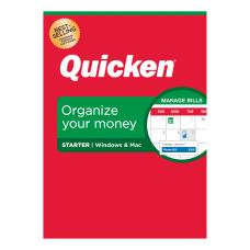 Quicken Starter Personal Finance Software 1