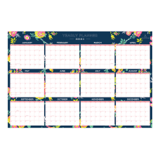 Day Designer Laminated Monthly Wall Calendar