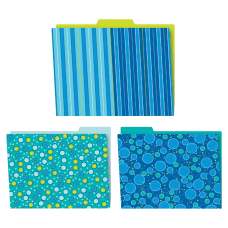 Carson Dellosa Bubbly Blues File Folders