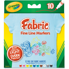 Crayola Bright Fabric Markers Broad Marker