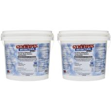 2XL GymWipes Dispensing Antibacterial Towelettes Wipe