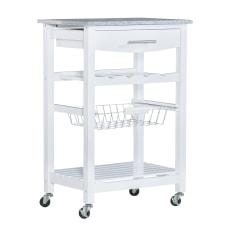 Linon Rhett Granite Top Kitchen Cart