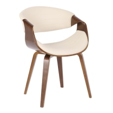LumiSource Symphony Chair CreamWalnut