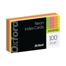 Oxford Neon Index Cards 3 x