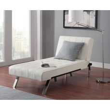 DHP Emily Bonded Leather Chaise Lounger