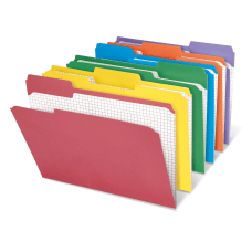 Office Depot Brand Reinforced Tab Color